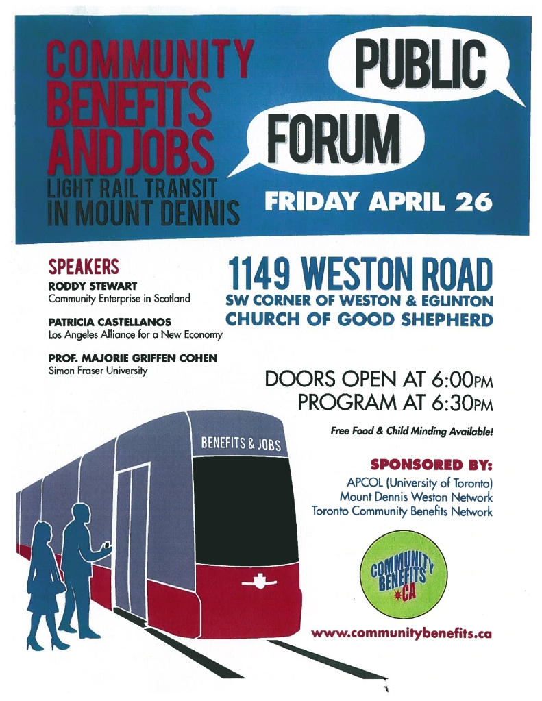 Community Benefits Forum in Mount Dennis