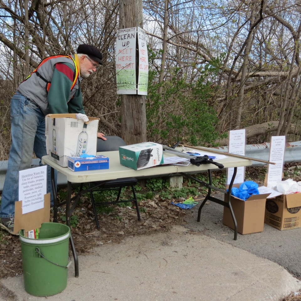 Earth Day Clean-up Set-up